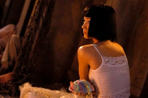 Bai Ling on the set of The Beautiful Country shot in Vietnam