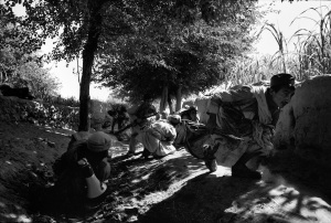 A group of Afghan mudjahedeen fighters during an ambush near Jalalabad (1981)