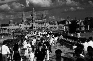 The tourists have return to Angkor Wat in 2002