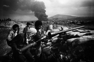 Palestinians fighters at a camp in Northern Lebanon (1984)