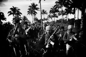 NPA guerrilla of the Philippines during military training (1984)