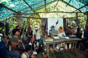 NPA jungle meeting in South Philippines 1984