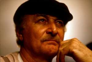 Robert Loggia in Poland while filming Triumph of the Spirit