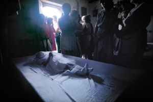 El Salvador, death of a  girl in a village after a fight with rebels