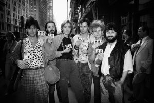 Stas Namin, the first Soviet rock to ever visit the USA touring Time Square (1983)