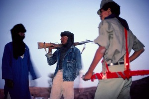 Touareg fighters in the Sahara 1989