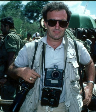 While shooting on Platoon (1986)
