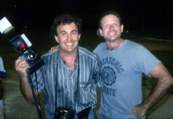 With Robin William during a shoot on Good Morning Vietnam for Newsweek magazine