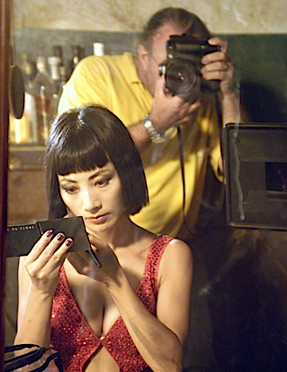On the set of The Beautiful Country shot in Vietnam with Bai Ling (2004)