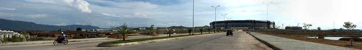 The new stadium complex being built in Nyapidaw for the 2013 Southeast Asian Games