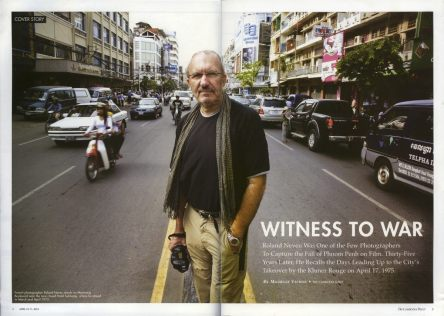 In the street in Phnom Penh