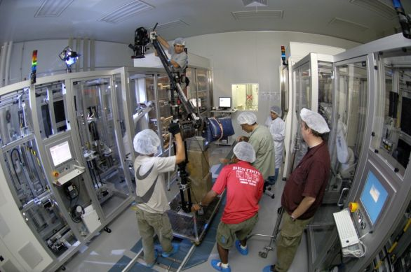 The camera crew… making of the film