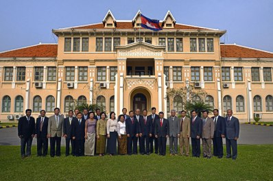 Council of Ministers of Phnom Penh at the Cuty Hall (Cambodia)
