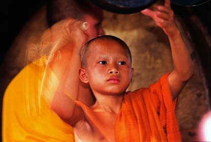 Novice monk in Luang Prabang