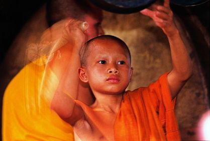 Novice monk in Luang Prabang
