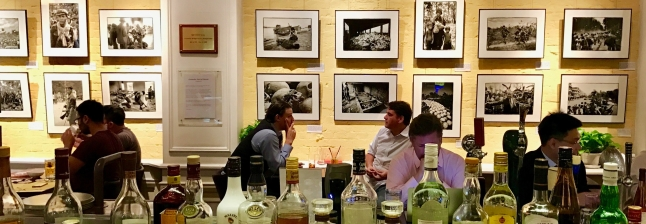My exhibition seen across from the other side of the bar…