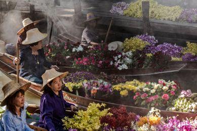 Flower market, Thailand