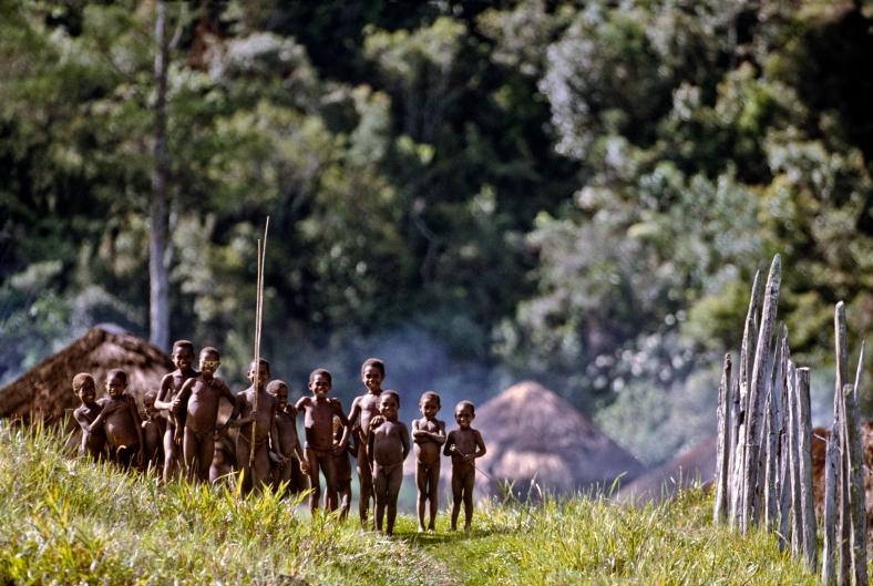 Northern Thailand village children