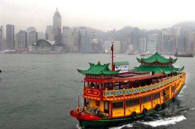 General illustration on Hong Kong (city, tourism, business) Hong is in perpetual change. New high rises, extention to the harbour, etc... Photo by Roland Neveu
